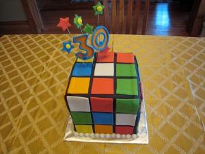 3D Rubix Cube Cake