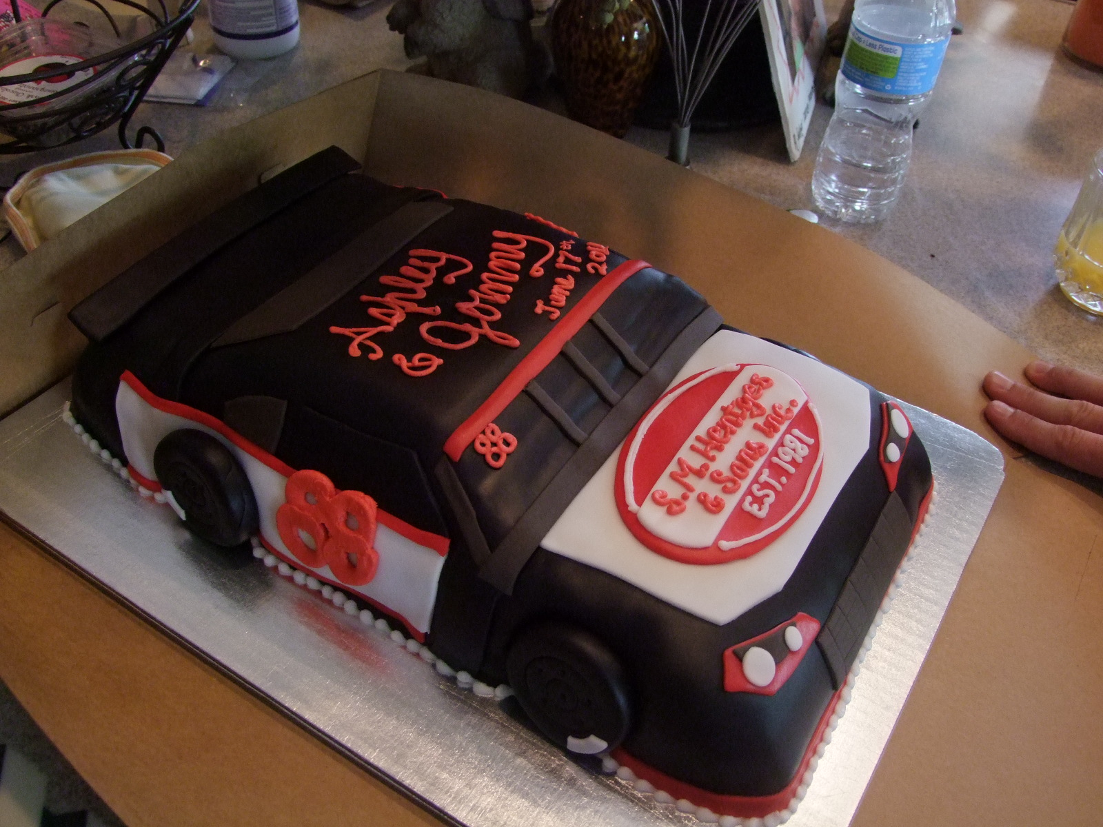 3D Race Car Grooms Cake Confectionery Cake Shop